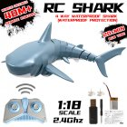 2.4G Simulation Remote Control Shark Boat Toy for Swimming Pool Bathroom Toy blue