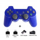 2 4G Wireless Gamepad Joystick Remote Controller for PS3 Android Phone TV Box Laptops PC blue