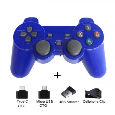 2.4G Wireless Gamepad Joystick Remote Controller for PS3 Android Phone TV Box Laptops PC blue