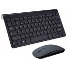 2.4G Wireless Keyboard Mouse Set Mini Multimedia Keyboard Mouse Combo Set for Notebook Laptop Mac Desktop PC  black
