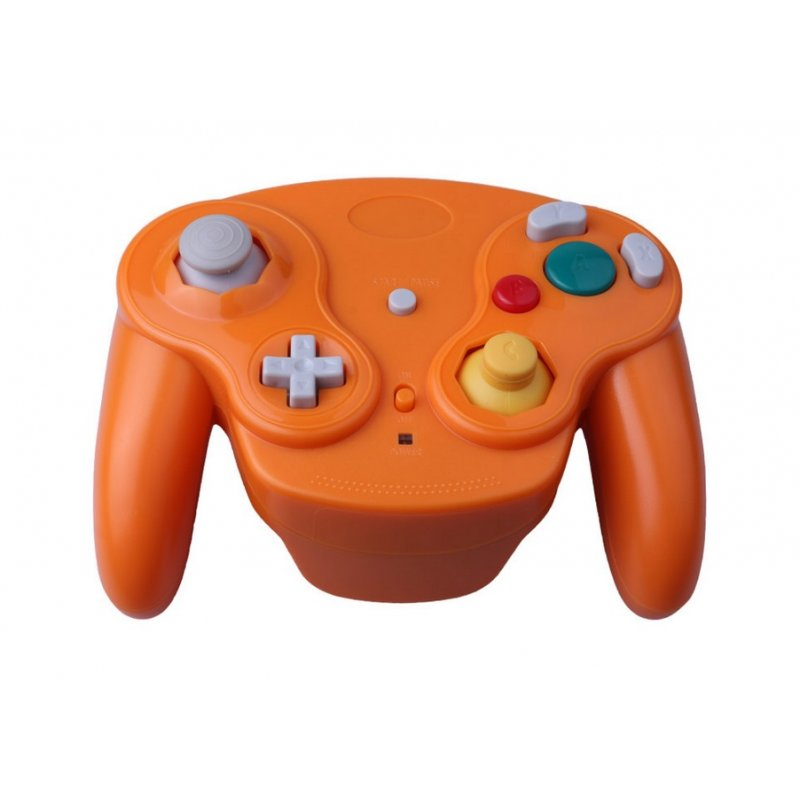 2.4GHz Controller Wireless Gamepad Joystick for GameCube NGC Wii Orange