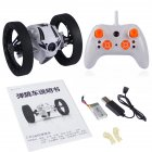 2.4Ghz Wireless Bounce Car with Remote Control LED Double Sided Tumbling High Speed Rotating  white