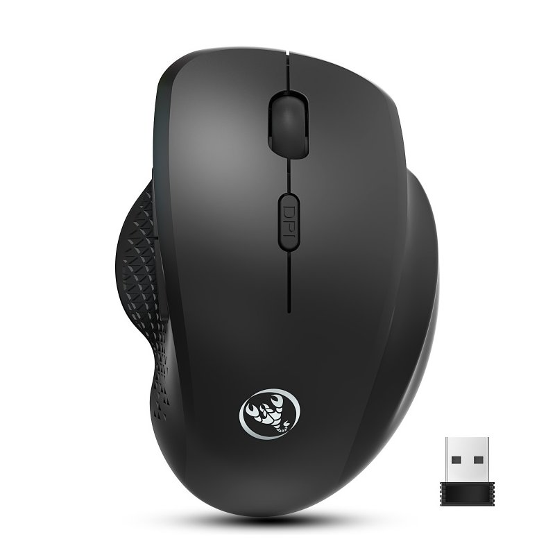 2.4g Wireless Mouse Mute Vertical Mouse 6d External Battery Design Computer Office Mouse  Ergonomic Bluetooth Mouse black