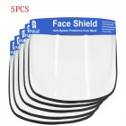 2/5/10PCS Face Shield Transparent Face Guard Spittle Prevention Masks Anti-Splash Protective Mask Cooking Face Covers 5pcs