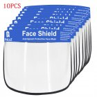 2 5 10PCS Face Shield Transparent Face Guard Spittle Prevention Masks Anti Splash Protective Mask Cooking Face Covers 10pcs