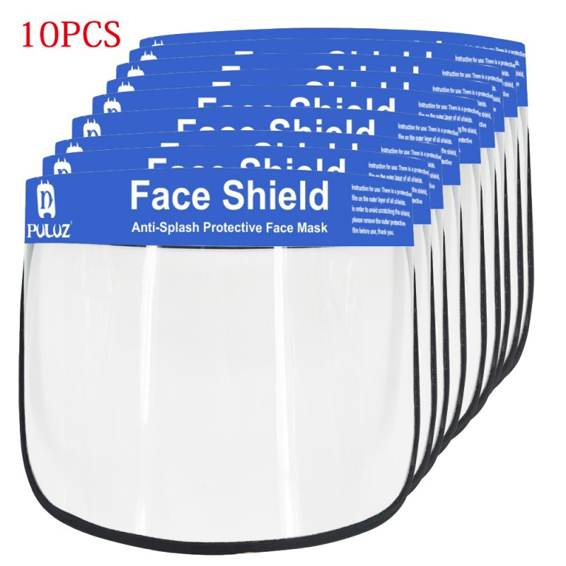 2/5/10PCS Face Shield Transparent Face Guard Spittle Prevention Masks Anti-Splash Protective Mask Cooking Face Covers 10pcs