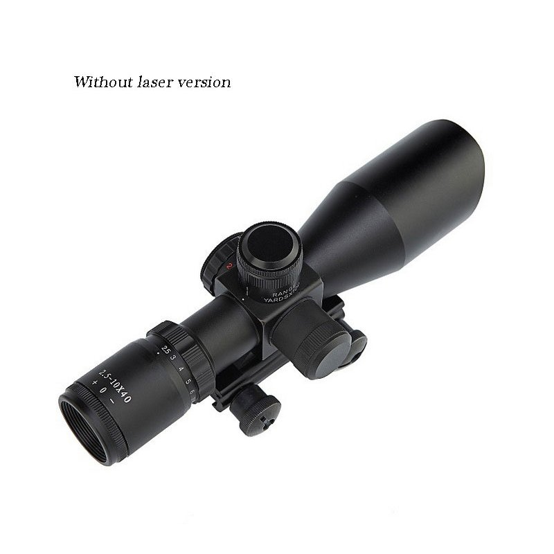 2.5-10X40 Red Dot Illuminated Reticle Sighting Telescope Without Button Battery Without lasering version