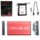 2.5 Inch HDD 1TB / 2TB USB 3.0 SATA III HD External Hard Drive Supports for EXFAT and WIN Systems red