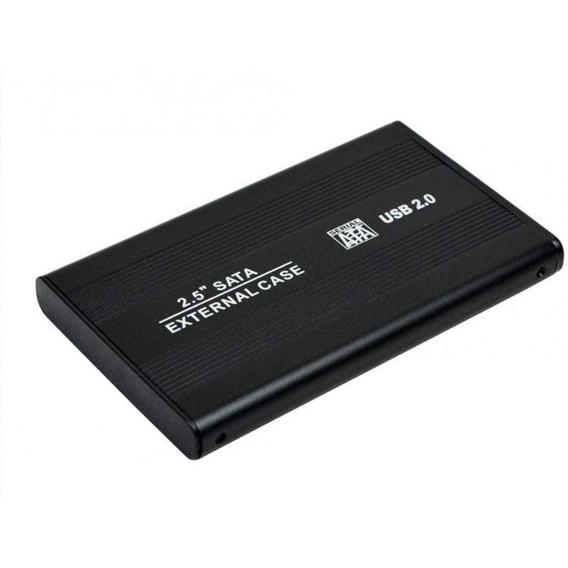 2.5 Inch USB 2.0 SATA HDD Case External Mobile Hard Disk Drive Box Aluminum Alloy Shell black