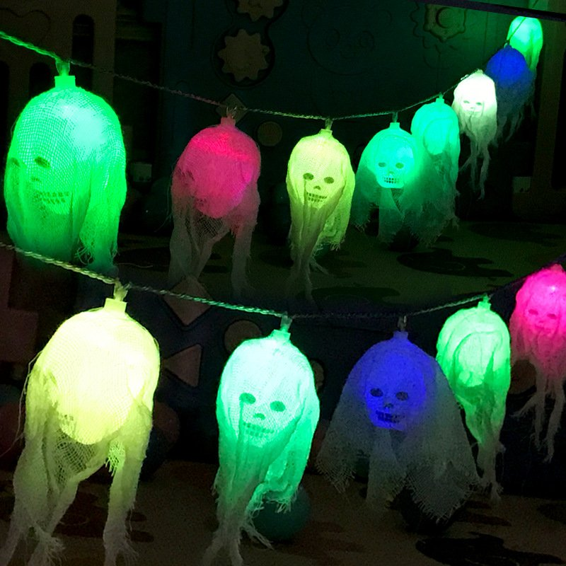 2.5m Halloween LED String Light Skull Skeleton Ghost Party Decoration Battery Powered