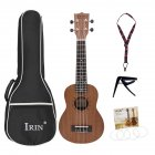 21Inch Sapele Ukulele Engraved Ukelele 15 Frets Acoustic Guitar Mini Portable Professional Musical Instrument Wood color_21inch