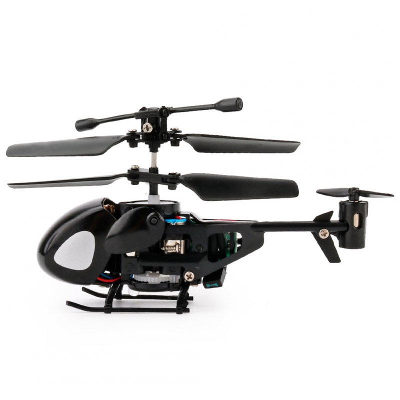 2 Channels Infrared Handle Remote-controlled Helicopter with Gyroscopes Mini Airplane Model Cartoon Intellectual Toy black