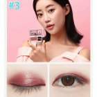 2 Colors Eye Shadow Palette For Women 3-second Eye Shadow Make-up With Brush