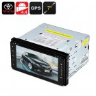2 DIN 7 Inch Toyota Car DVD Player with Android Operating System  800x480 Resolution  GPS  Wi Fi  and Bluetooth