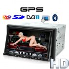 2 DIN car DVD player with 7 inch touch screen and enhanced with advanced GPS navigation system and DVB T receiver