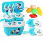 2 In 1 Kitchen Tableware Playset Portable Play House Toys for Children Cooking Pretend Play