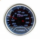 2 Inch / 52mm 12V Universal Auto Car Gauge Kit White LED 35 PSI Turbo Boost Gauge Vacuum Meter