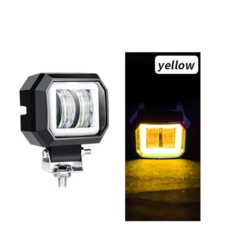 2 Pack3 Inch 20w Offroad Led Work Light Waterproof 12v 24v Suv Atv Truck Motor Headlights 4x4 Car Led Yellow circle