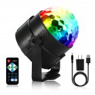 2 Packed LED Par Lights Stage Lights with USB Charging Cable RGB Colors Remote Controller for Club Show Stage PartyBO7E