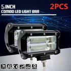 2 Pcs 5 Inch 144W LED Work Light Spotlight Off-road Driving Fog Lamp for Truck Boat As shown