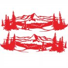 2 Pcs 50 * 150cm Universal Tree Sticker Mountain Scene Northern Great Car Sticker Vinyl Truck Rv Toy Transporter Accessories Vehicles Cars red