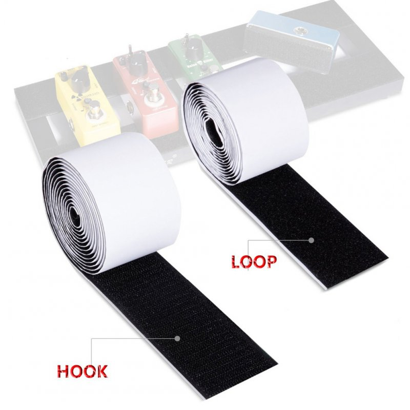 2 Pcs 5CM*2M Power-Grip Magic Sticker Electric Guitar Effect Pedal Mounting Tape