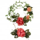 2 Pcs Bridal Wedding Flower Wreath Headband Floral Garland for Mother and Kids