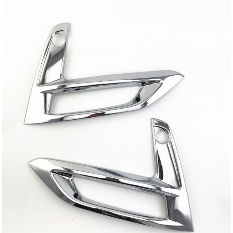 2 Pcs Front Fog Light Shield Sticker For Nissan Sentra B18 2019-2020 Silver plating