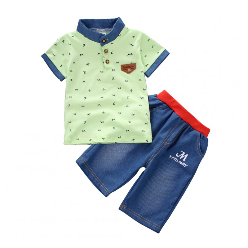 Boys Clothes Set T-shirt + Denim Shorts
