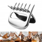 2 Pcs Set Stainless Steel Bear Claw Meat Divided Tearing Multifunction Shred Pork Clamp BBQ Tool 2