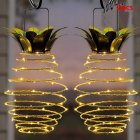 2 Pcs Unique Waterproof Pineapple Solar Hanging Lights Garden Solar Light Fairy Lights  Warm white light