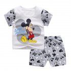 2 Pcs/set Children's Suit Cartoon Short-sleeve Shorts Set for 0-4 Years Old Kids 2_100