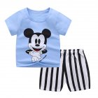 2 Pcs/set Children's Suit Cartoon Short-sleeve Shorts Set for 0-4 Years Old Kids 5 _100