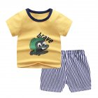 2 Pcs/set Children's Suit Cartoon Short-sleeve Shorts Set for 0-4 Years Old Kids 3_110