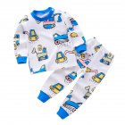 2 Pcs/set Children's Underwear Set Cotton Cartoon Long-sleeve + Trousers for 0-4 Years Old Kids a04_100 yards