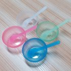 2 Pcs set Lady Face Care DIY Mask Mixing Bowl Stick Set Transparent green bowl   stick