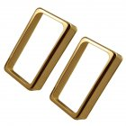 2 Pcs/set Pickup Cover Open-style Dual-coil Pickup Cover for Electric Guitar Golden