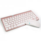 2  Pcs/set Wireless Keyboard Mouse Ultra-thin 2.4g For Keyboard+  Mouse for  Laptop  Pc rose gold