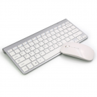 2  Pcs/set Wireless Keyboard Mouse Ultra-thin 2.4g For Keyboard+  Mouse for  Laptop  Pc sliver