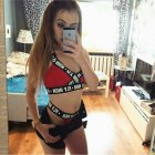 2 Pcs/set  Women's  Underwear Suit  Breathable  Quick Drying  Sports  Bra + Underpants red_M