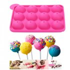 2 Pieces Silicone Jelly Candy Pudding Lollipop Chocolate Mold, Cake Baking Mold, 12-Cavity