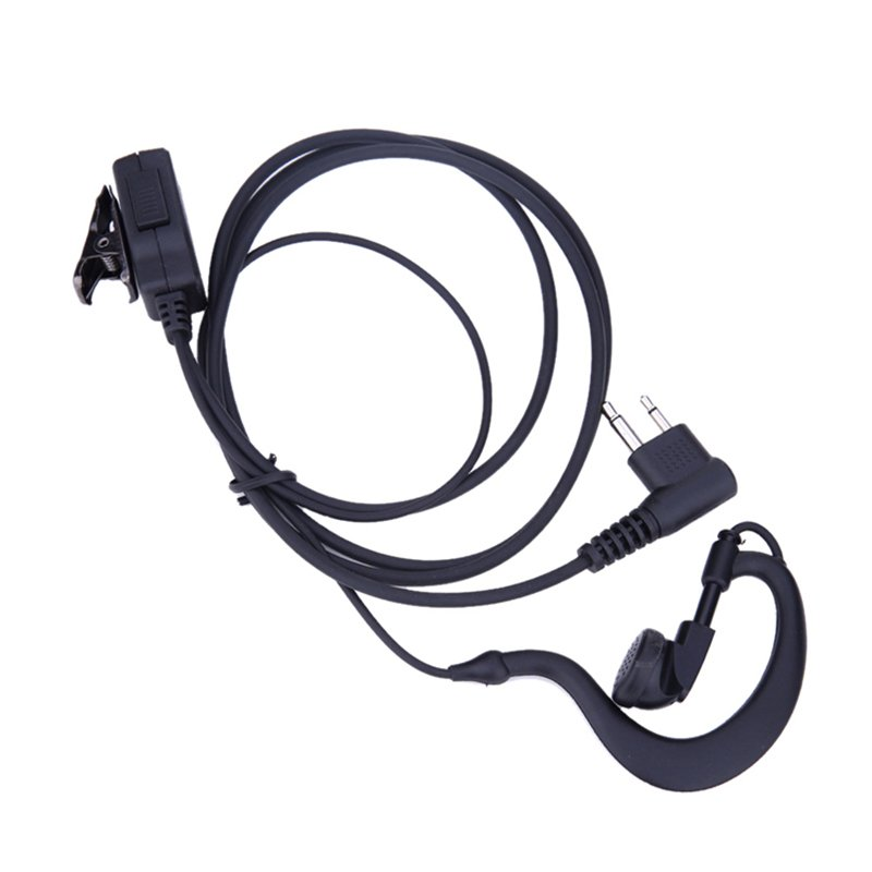 2 Pin Acoustic Tube Earpiece Mic PTT Headset