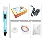 2-generation 3d Printing Three-dimensional Drawing Pen 12v Colorful Drawing  Pen purple