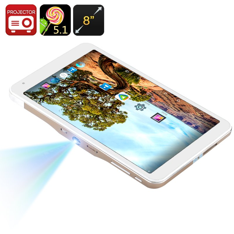 Android Tablet PC + Mini Projector