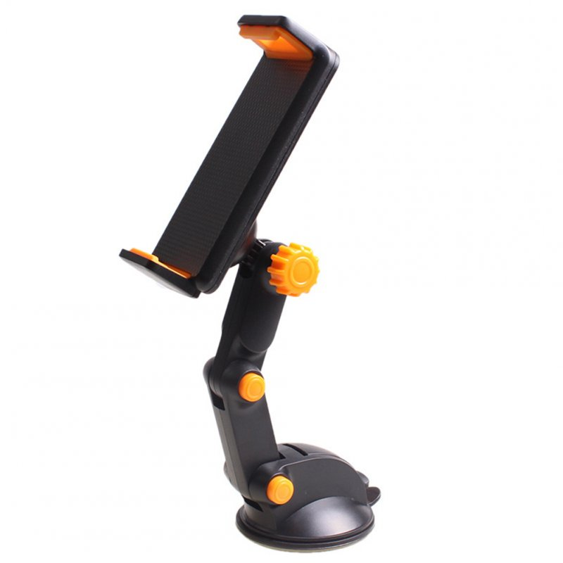 2 in 1 Car Phone Holder Car Windshield Mount Mobile Phone Holder Stand Black + orange