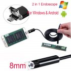 2 in 1 HD Waterproof 6LEDs 7/8mm Micro USB Android Endoscope Inspection Camera  8mm