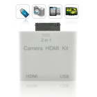 2 in 1 HDMI and Camera Connection Kit for iPad 2  mirror everything from your iPad 2 screen on to your HDTV
