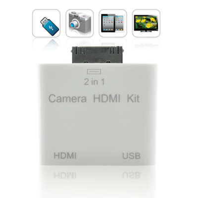 iPad2 2-in-1 HDMI and Camera Connection Kit