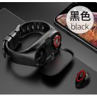2 in 1 Lemfo M1 Wireless Bluetooth Earphone Sport Watch Wristband Black