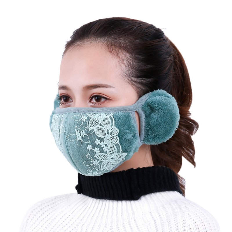 2 in 1 Unisex Warm Ear Cover + Dust-proof Mask Perfect Wear Accessory for Winter green